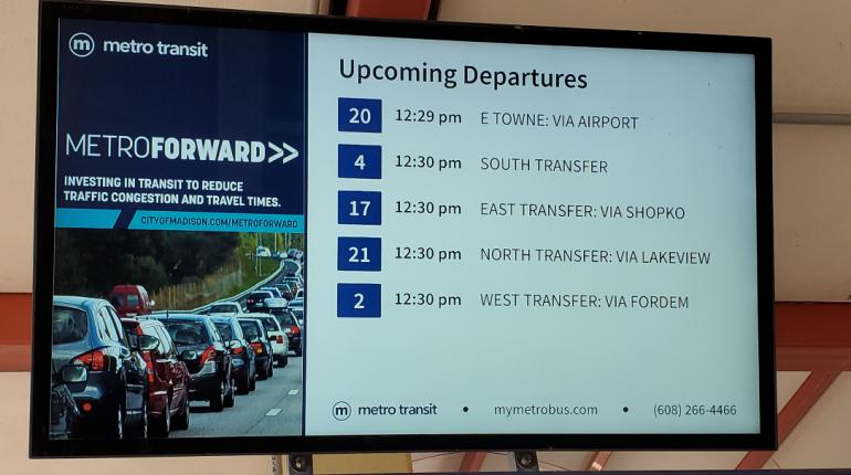 Bus Departure Information Screen