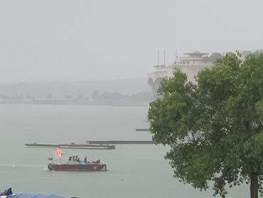 Lake Rescue boat returning to shore