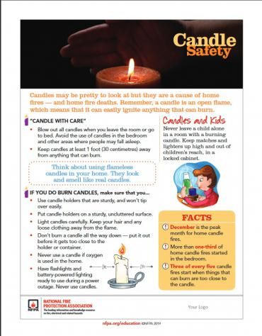 Candle Safety poster