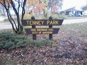 tenney park sign