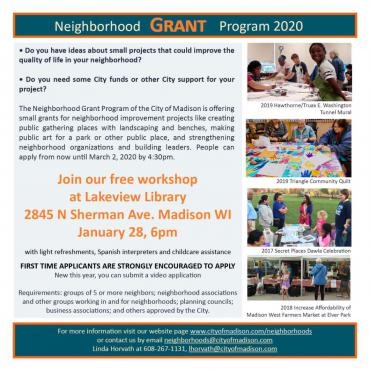 Lakeview Library Neighborhood Grant Workshop!