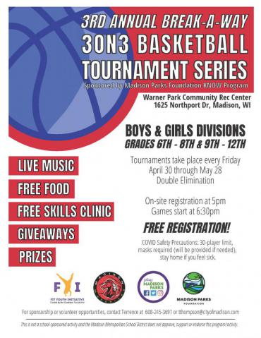 3rd Annual Break-A-Way 3on3 Basketball Tournament Series