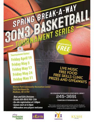 Spring Break-A-Way 3 on 3 Basketball League Tournament Series