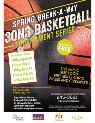 Spring Break-A-Way 3 on 3 Basketball League Tournament Series