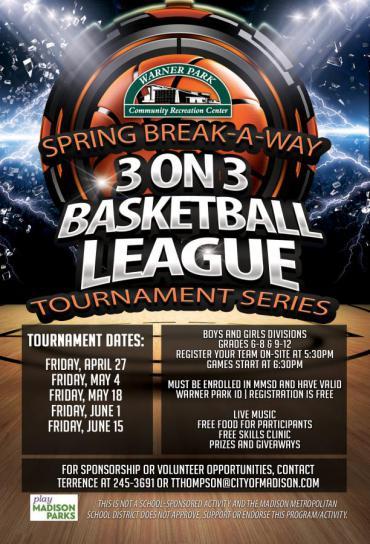 WPCRC Spring Break-A-Way 3 on 3 Basketball League Tournament Series