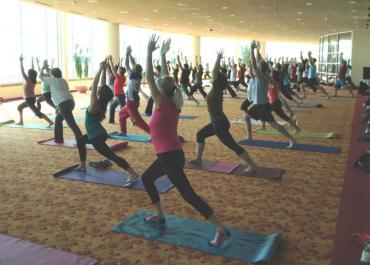 Yoga at Monona Terrace