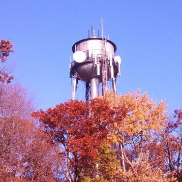 Lake View water tower at Lake View Hill Park