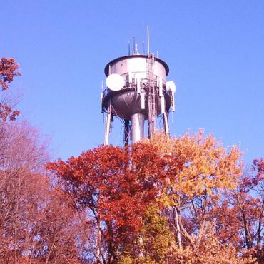 Lake View water tower at Lake View Hill Park