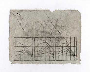 """Image of a print, titled """"Measurements"""" by artist Adriana Barrios"""