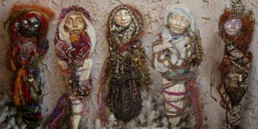 Use fabric, ribbon, nails, yarn or beads