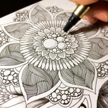 Botanical Zentangle Art