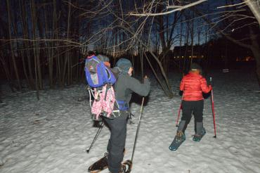photo by greg dixon, snowshoe hikers