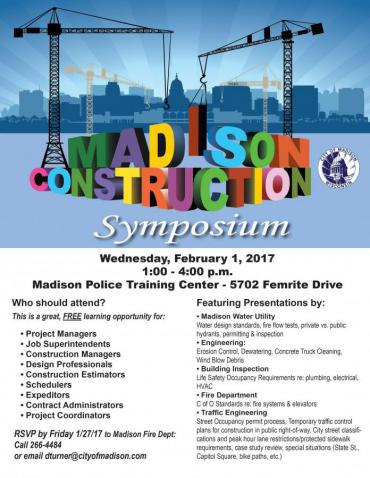 Madison Construction Symposium Poster