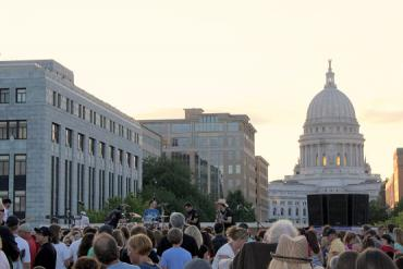 Madison County on The Monona Terrace Rooftop
