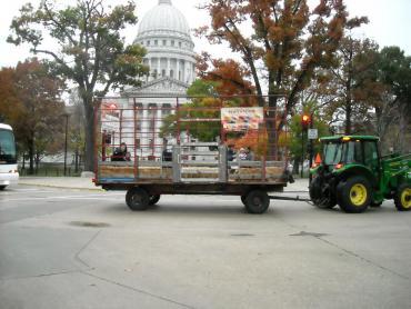 hayride around the capitol square