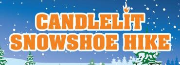 candlelit snowshoe hike logo