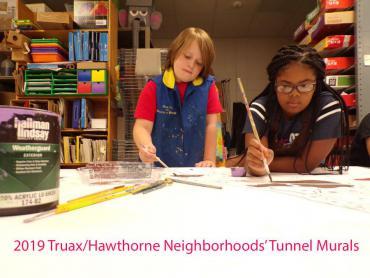 2019 Truax/Hawthorne Neighborhoods' Tunnel Murals