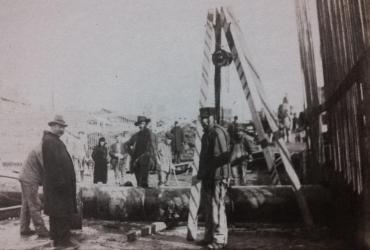 Historic water main installation