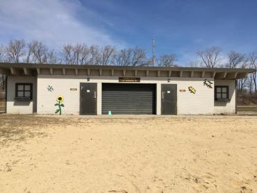 view of warner park beach shelter