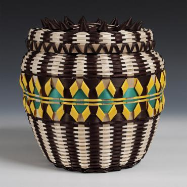 Basket by Lila Blackdeer (Ho-Chunk). Photograph by Tom Jones.