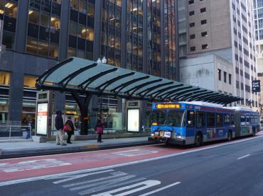 Bus at BRT station
