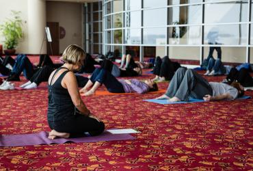 Yoga at Monona Terrace