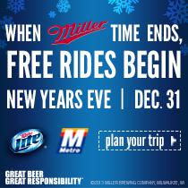 Free Rides on New Year's Eve Start at 7:00 PM