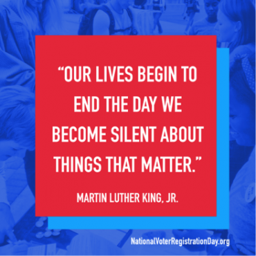 Our lives begin to end the day we become silent about things that matter. - Martin Luther King, Jr.