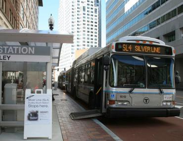Bus Rapid Transit vehicle used in Boston, MA