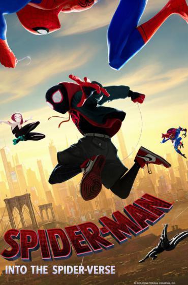 spiderman into the spiderverse movie promo image