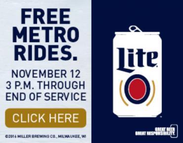 Free Metro Transit Rides On Football Saturday City Of