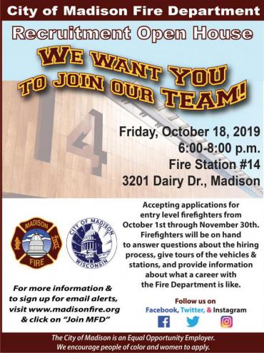 Station 14 open house flyer