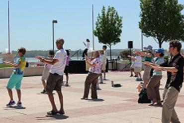 T'ai Chi on the Monona Terrace Rooftop
