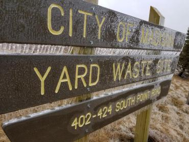 Yard waste drop-off site at 402 South Point Rd closed on April 27 due to weather