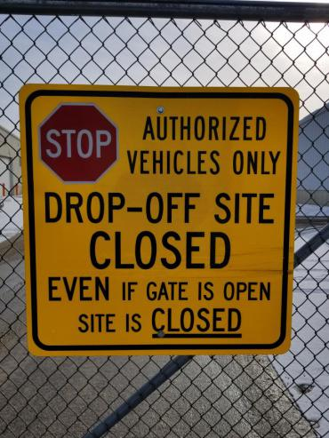 Streets Division drop-off sites closed week of 1/28. Will reopen 2/4