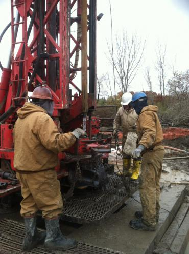 Crews drill new well at 4901 Tradewinds Parkway