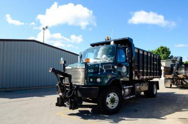 A truck that uses biodiesel as part of City of Madison Fleet