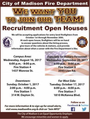 Recruitment Open House flyer