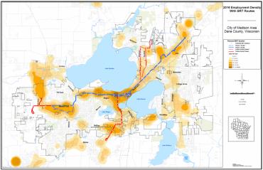 BRT Employment Density maps