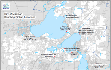 Sand Bag Site Location Map