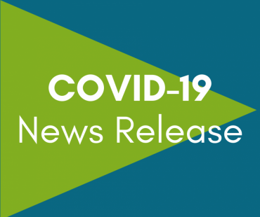 "Graphic that says ""COVID-19 News Release"""