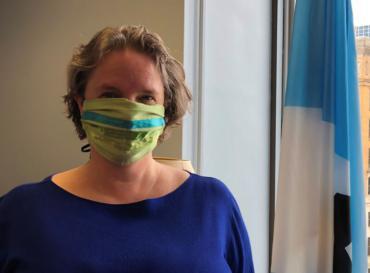 Mayor Satya Wearing a Facial Covering