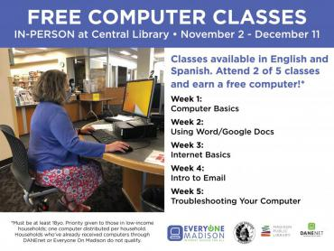 Sign up to take free computer classes between Nov. 2 - Dec. 11 and you can earn a free computer