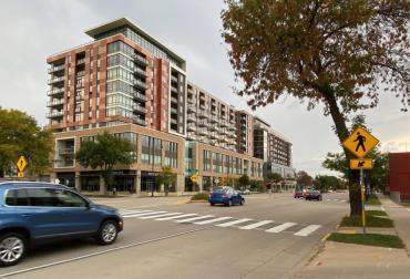 Image of New Crosswalk on East Washington Ave.