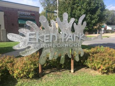 2019 Eken Park Neighborhood Welcome Sign
