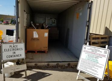 Recycle old electronics at the drop-off sites