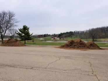 Final mulch load deliveries to parks began May 19, 2020. This is a photo of mulch at Elver Park.