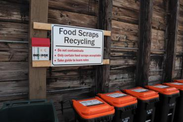 Food scraps recycling station at the Badger Rd drop-off site. Program ends October 2. Will return in 2021.