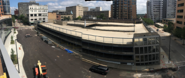 Today:  A panoramic view as seen from the new Wilson Street Garage