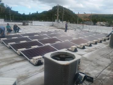 This 8.4KW Array was installed start to finish in three days.
